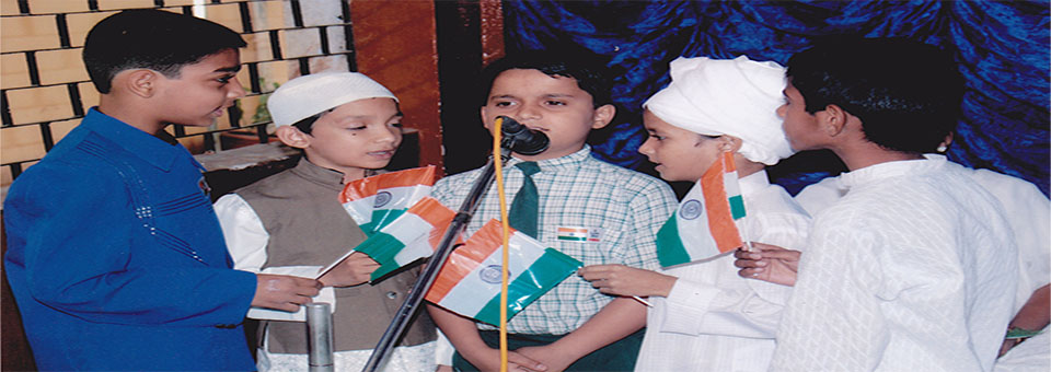 School students presenting an act on occassion of Independance day