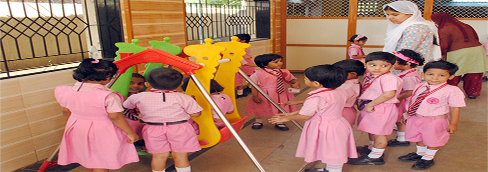 K.G. students during their playhours